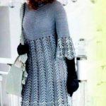 схема Платье, берет и сумочка вязаные крючком 888