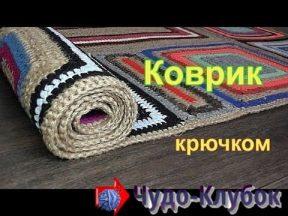 vyazanyj kovrik iz kvadratov i pryamougolnikov