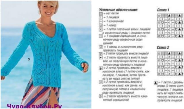 azhurnyj pulover vyazanyj spiczami 1866