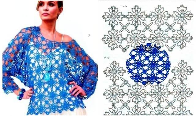 letnij pulover iz motivov vyazanyh kryuchkom 1908