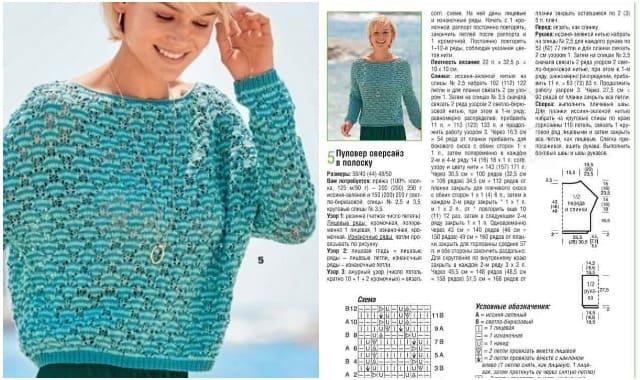 pulover oversajz v polosku vyazanyj spiczami 1868