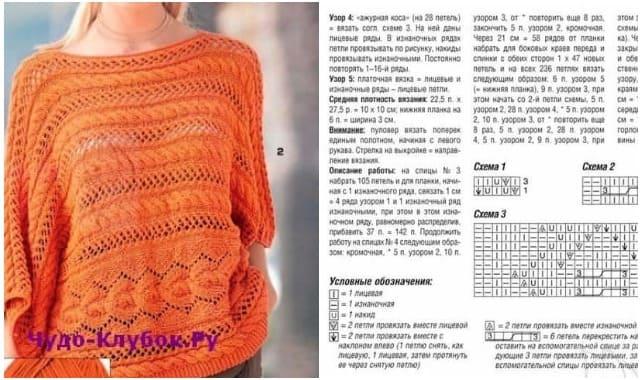 pulover svyazannyj spiczami poperek 1884