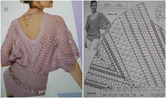 sirenevyj pulover vyazanyj kryuchkom 1