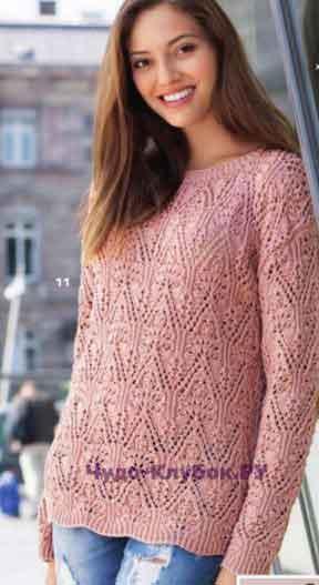 1055 pulover s azhurnym uzorom
