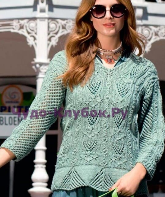 pulover sero zelenyj 1201