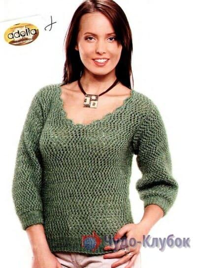 pulover zhenskij kryuchkom 30