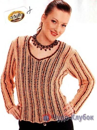 pulover zhenskij kryuchkom 32