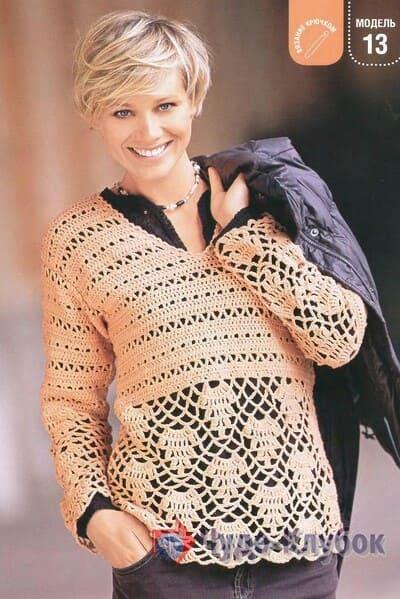 pulover zhenskij kryuchkom 5
