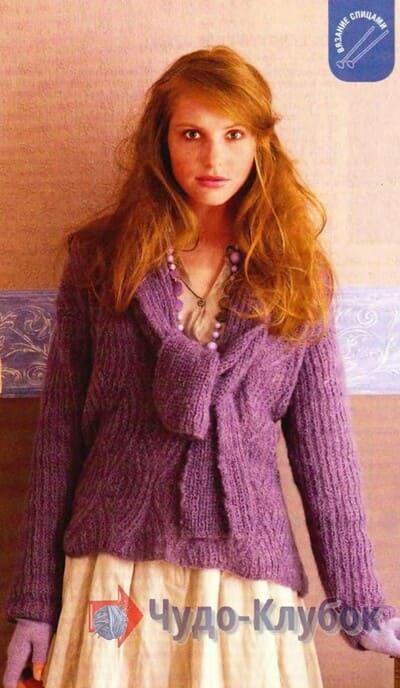 zhenskij pulover spiczami 34