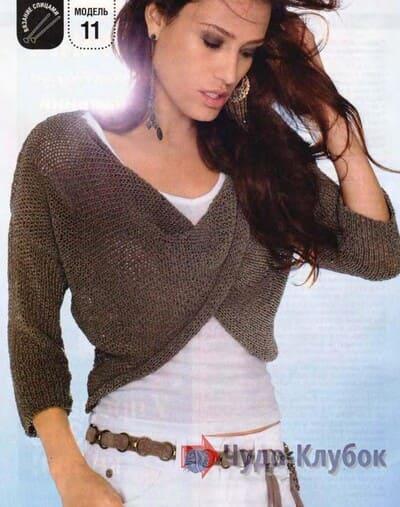 zhenskij pulover spiczami 37