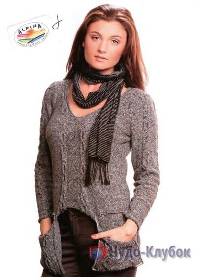 zhenskij pulover spiczami 39