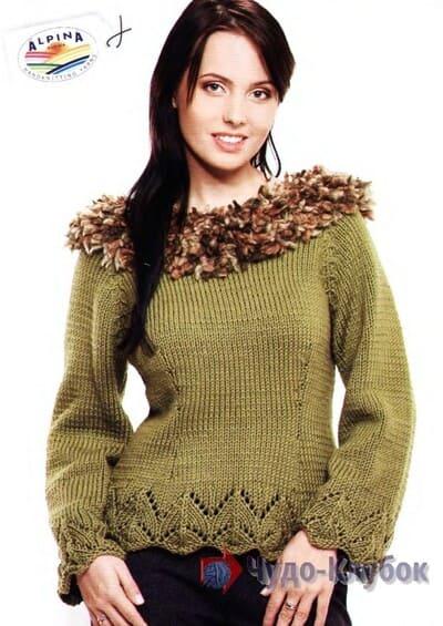 zhenskij pulover spiczami 41