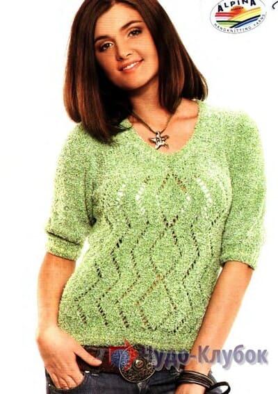 zhenskij pulover spiczami 46