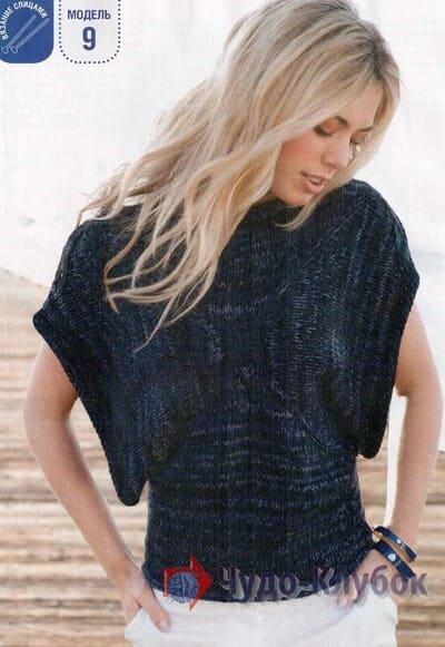 vyazanyj spiczami zhenskij pulover 16