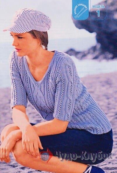 vyazanyj spiczami zhenskij pulover 18
