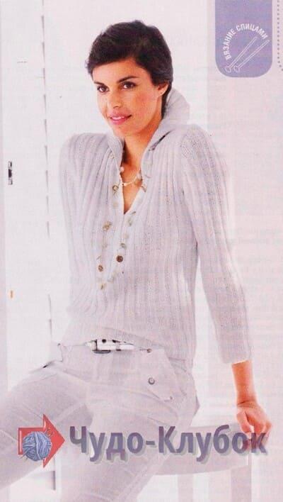 vyazanyj spiczami zhenskij pulover 20