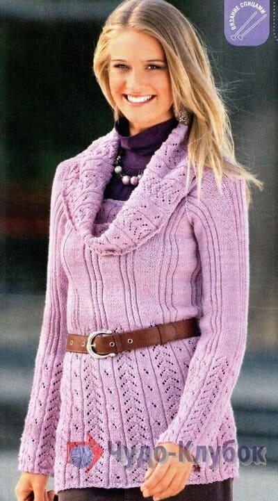 vyazanyj spiczami zhenskij pulover 22