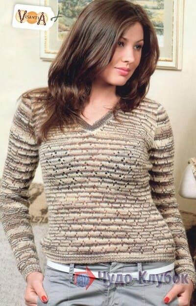 vyazanyj spiczami zhenskij pulover 29