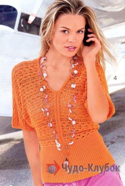 vyazanyj spiczami zhenskij pulover 34