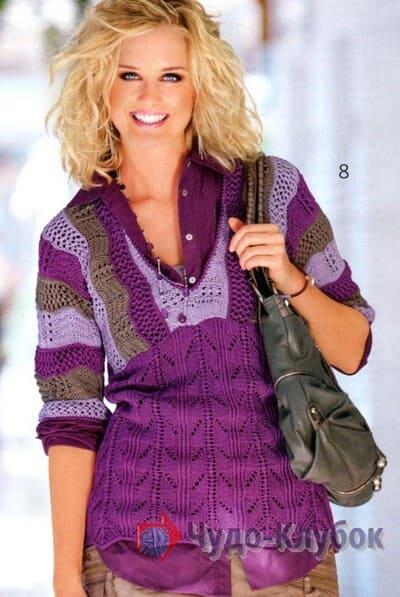 vyazanyj spiczami zhenskij pulover 39