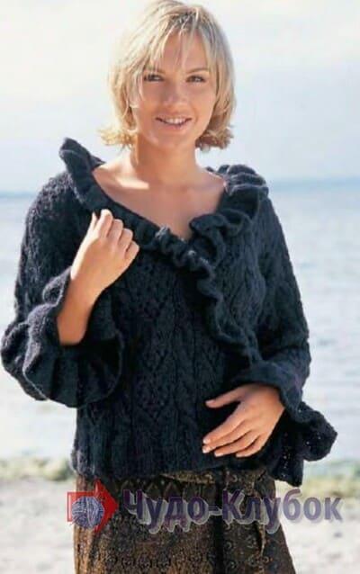 vyazanyj spiczami zhenskij pulover 44