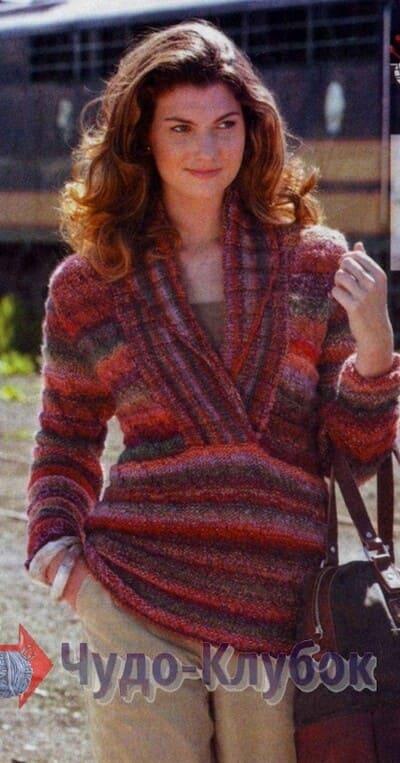 vyazanyj spiczami zhenskij pulover 48