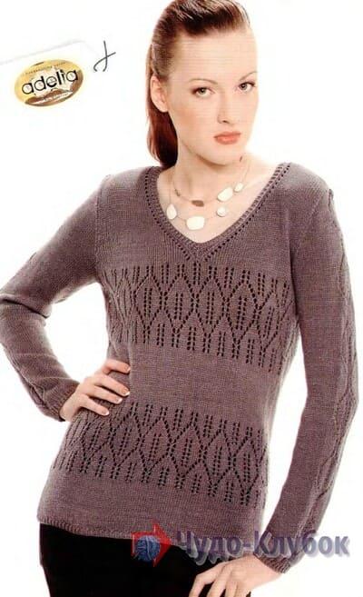 vyazanyj spiczami zhenskij pulover 7